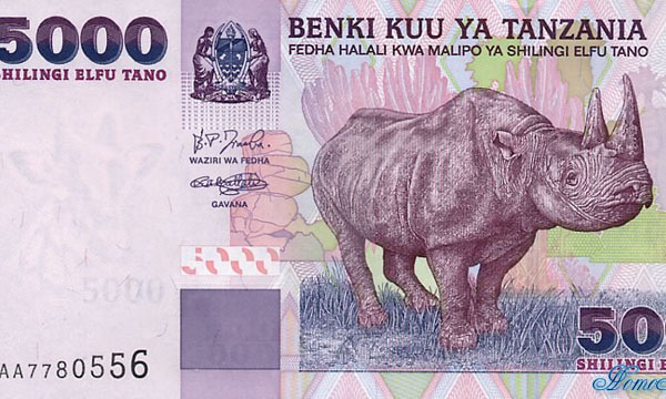 currency, Tanzania