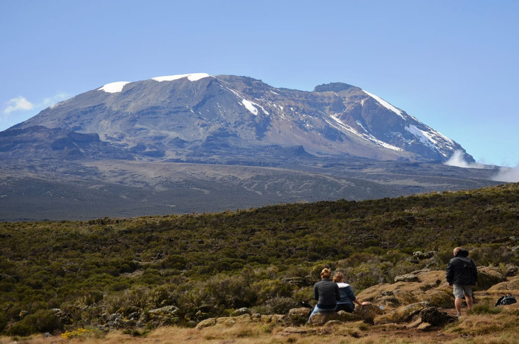 Shira Plateau and Kilimanjaro peak, the roof of Africa Tanzania