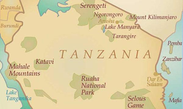 Tanzania map, Tanzania