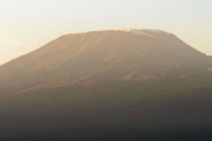 The region west of Kilimanjaro, dominated by the highest peak in Africa